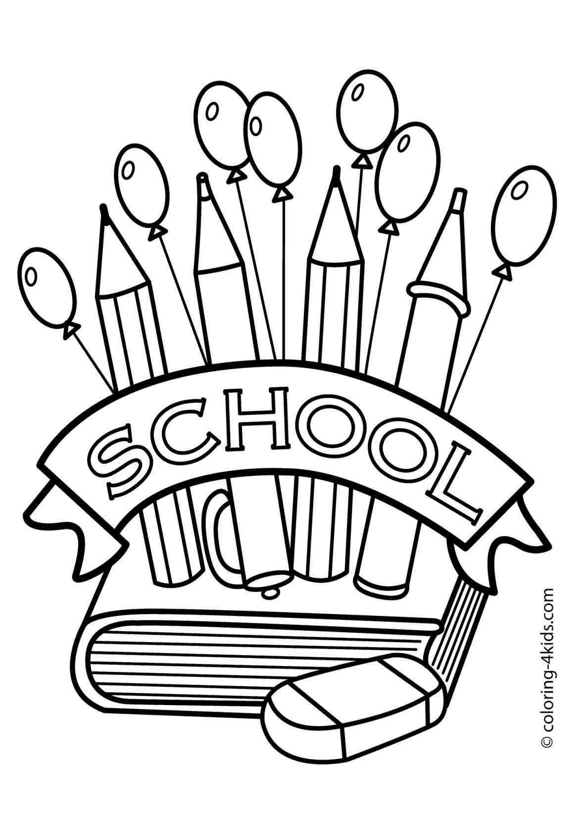 coloring art kit school supplies coloring page for children back to school art coloring kit