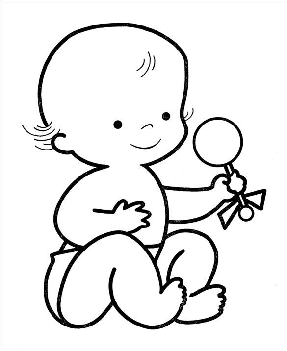 coloring baby 20 preschool coloring pages free word pdf jpeg png baby coloring
