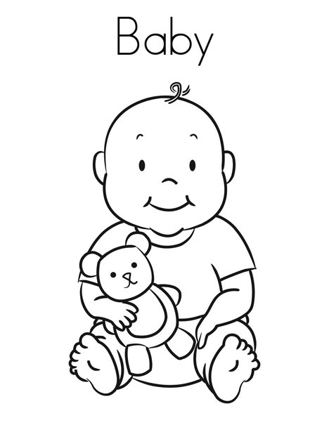 coloring baby free printable baby coloring pages for kids baby coloring 1 2