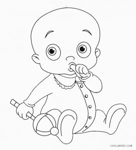 coloring baby free printable baby coloring pages for kids coloring baby 1 4