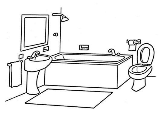coloring bathroom clean bathroom coloring book for your little one in 2020 coloring bathroom