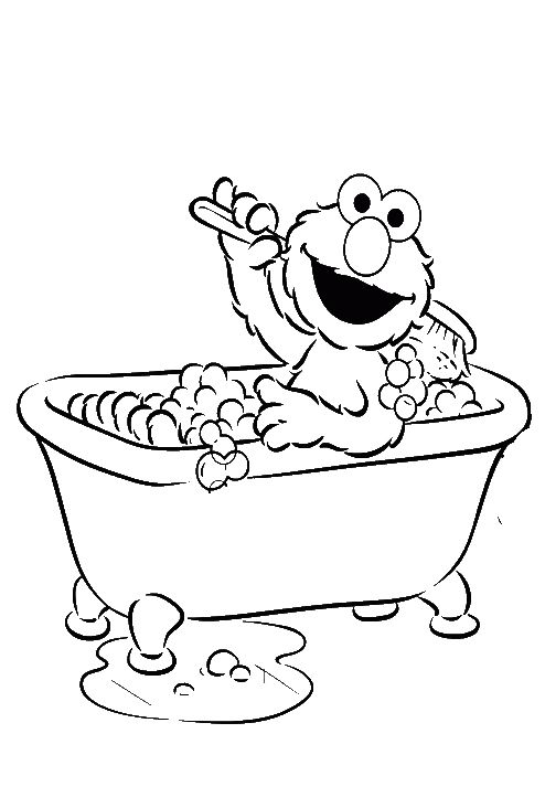 coloring bathroom taking a bath coloring page stock illustration bathroom coloring