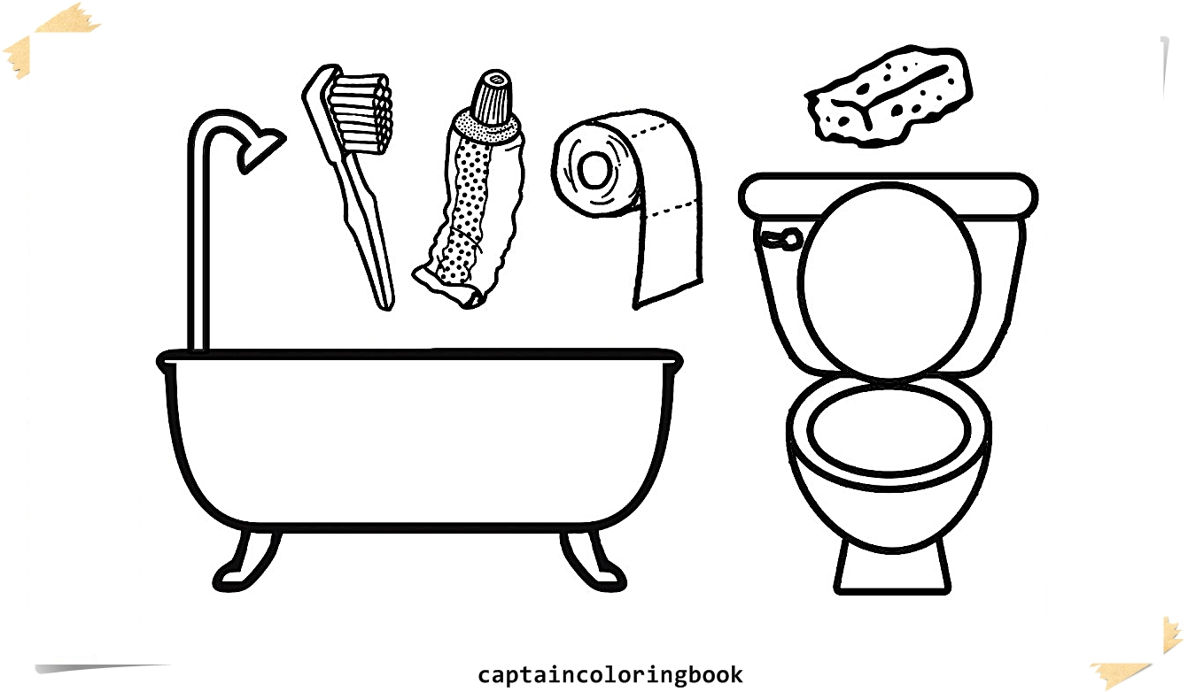 coloring bathroom toilet coloring page at getdrawings free download coloring bathroom