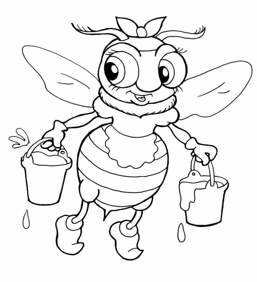 coloring bee bee coloring pages first coloring for our children bee coloring
