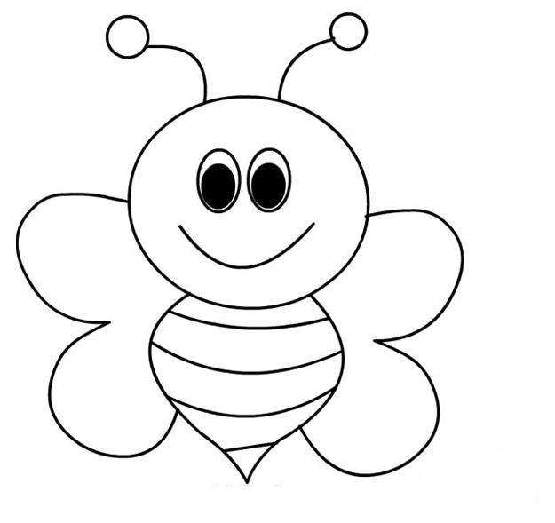 coloring bee bee coloring pages for kids preschool and kindergarten bee coloring