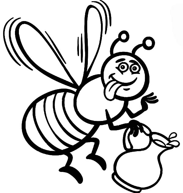 coloring bee coloring pages of honey bees coloring home coloring bee