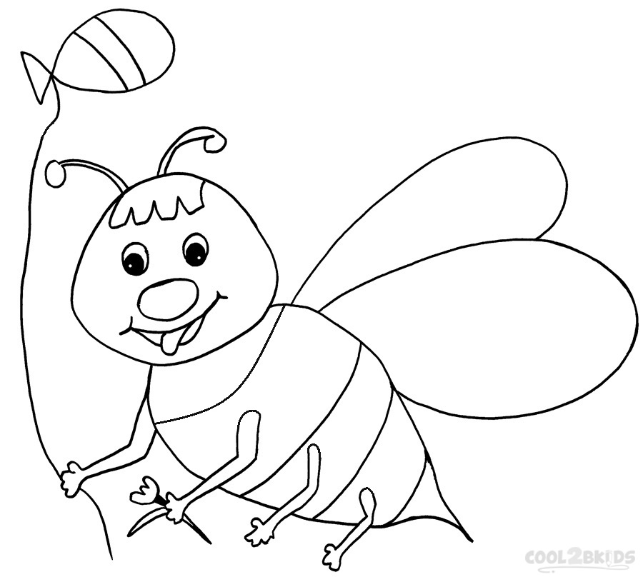 coloring bee printable bumble bee coloring pages for kids cool2bkids bee coloring