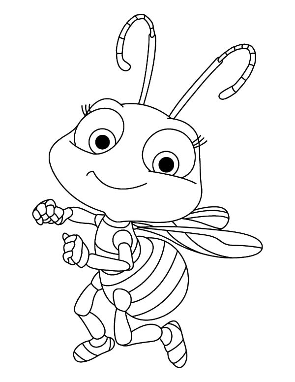 coloring bee printable happy honey bees coloring page coloring bee