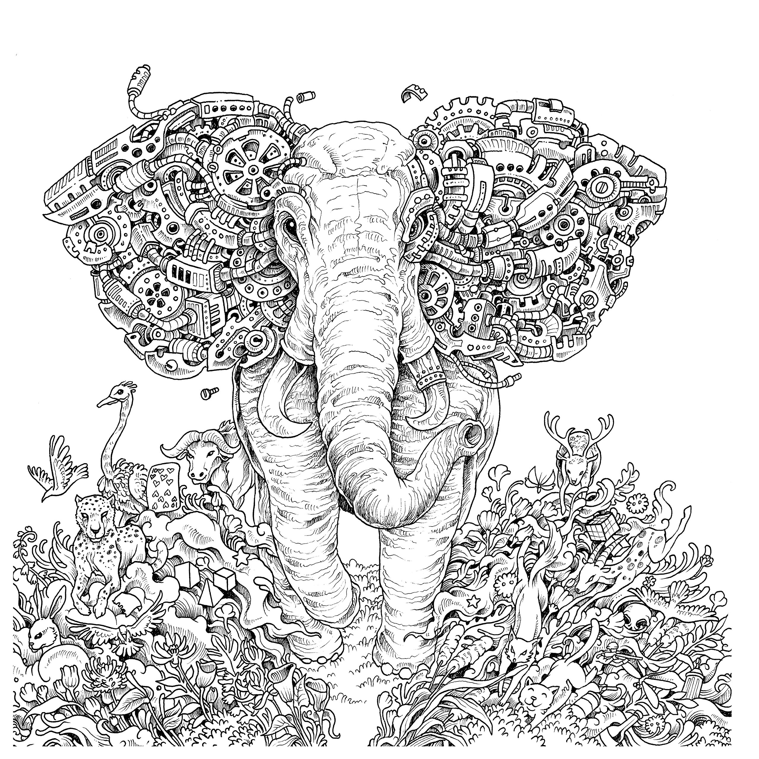 coloring book elephant images elephant coloring pages free download on clipartmag coloring elephant images book