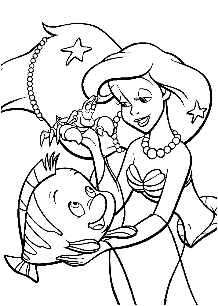 coloring book little mermaid coloring pages ariel the little mermaid free printable little coloring mermaid book