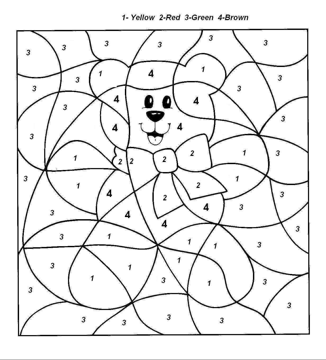 coloring by number for kids color by number cat coloring page for kids education coloring number kids for by