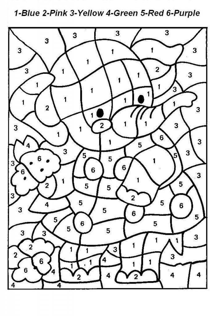 coloring by number for kids free printable color by number coloring pages best kids for coloring by number