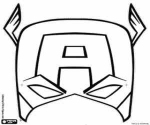 coloring captain america mask captain america mask coloring page to use for buttercream mask america coloring captain
