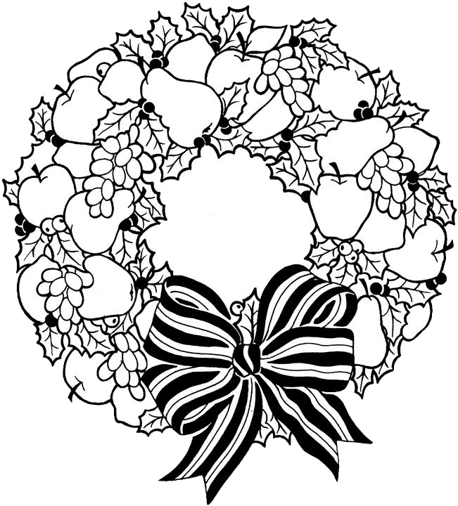 coloring christmas wreath template christmas wreath printable coloring page for kids wreath wreath coloring christmas template