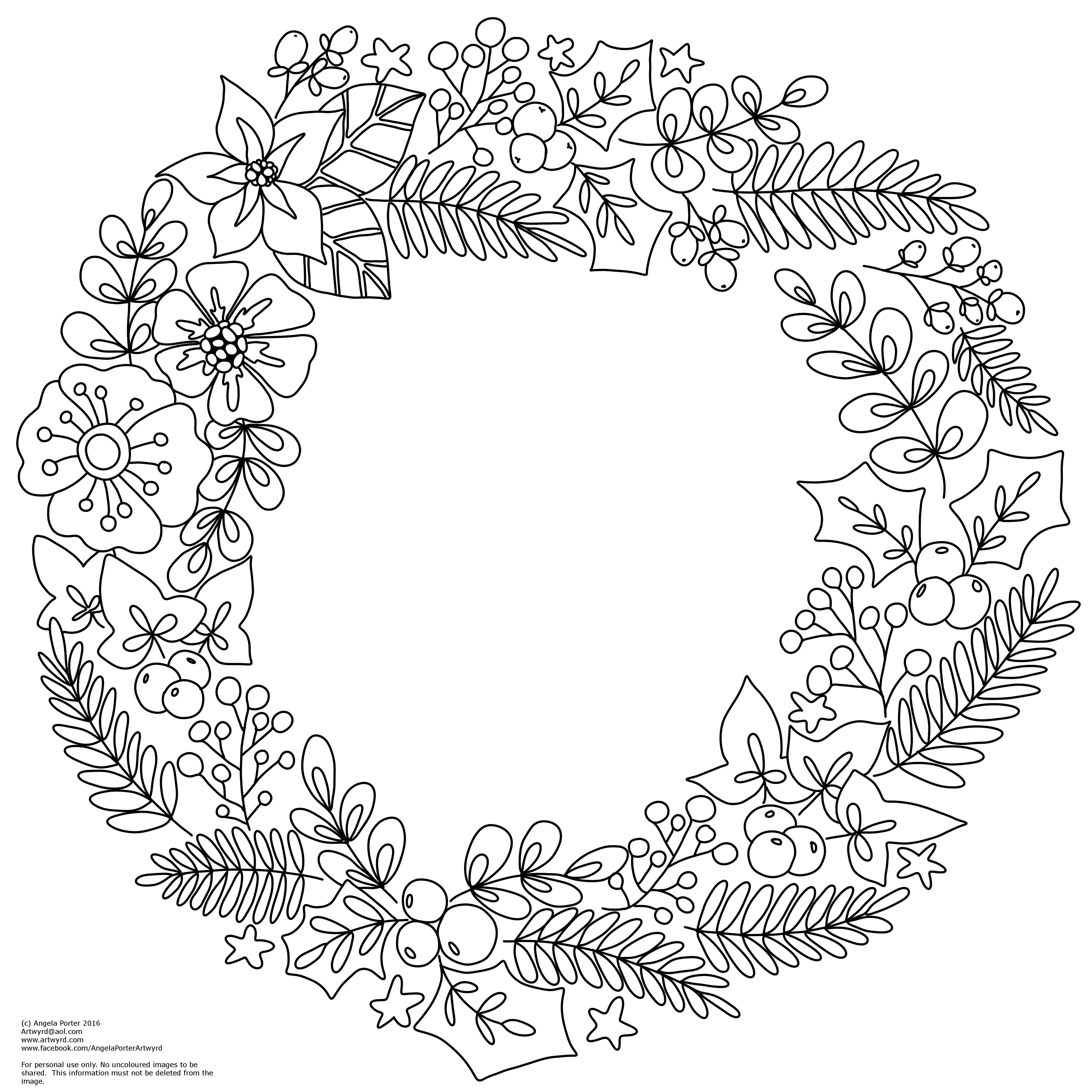 coloring christmas wreath template coloring pages wreaths coloring pages free and printable christmas wreath template coloring