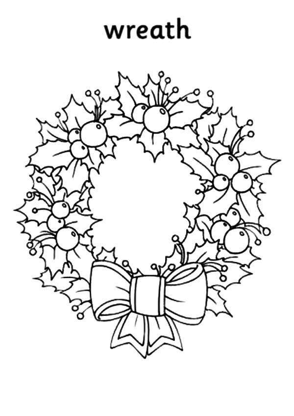 coloring christmas wreath template free kids christmas coloring pages printables more than wreath template christmas coloring