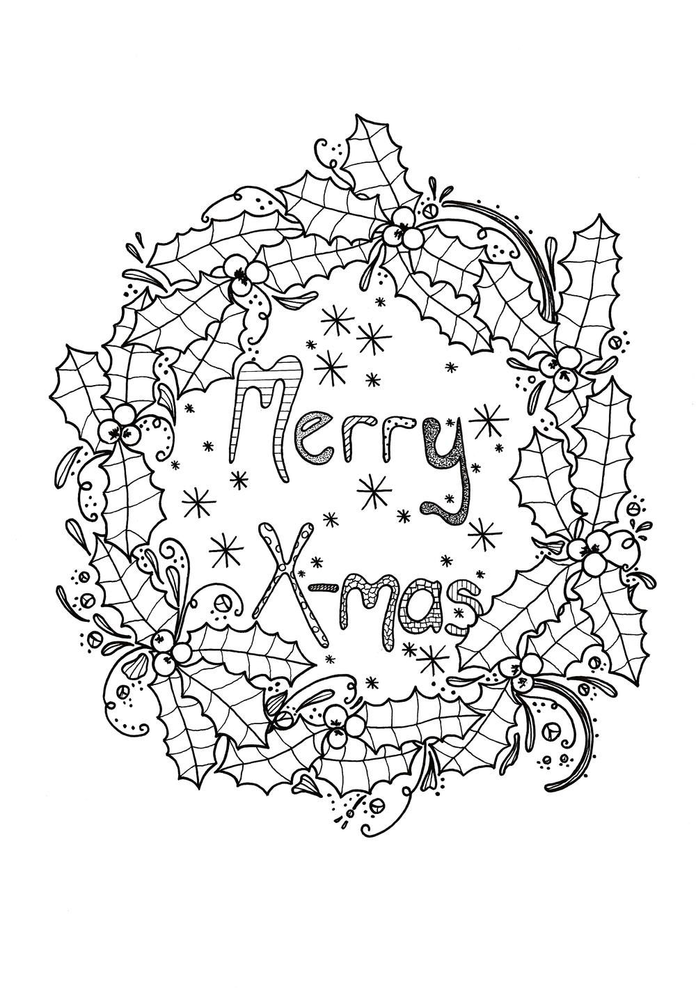 coloring christmas wreath template holly wreath coloring page template coloring christmas wreath