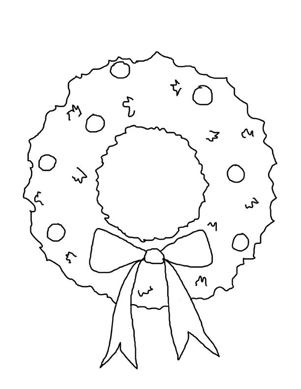 coloring christmas wreath template winterchristmas wreath colouring pages christmas template wreath coloring christmas