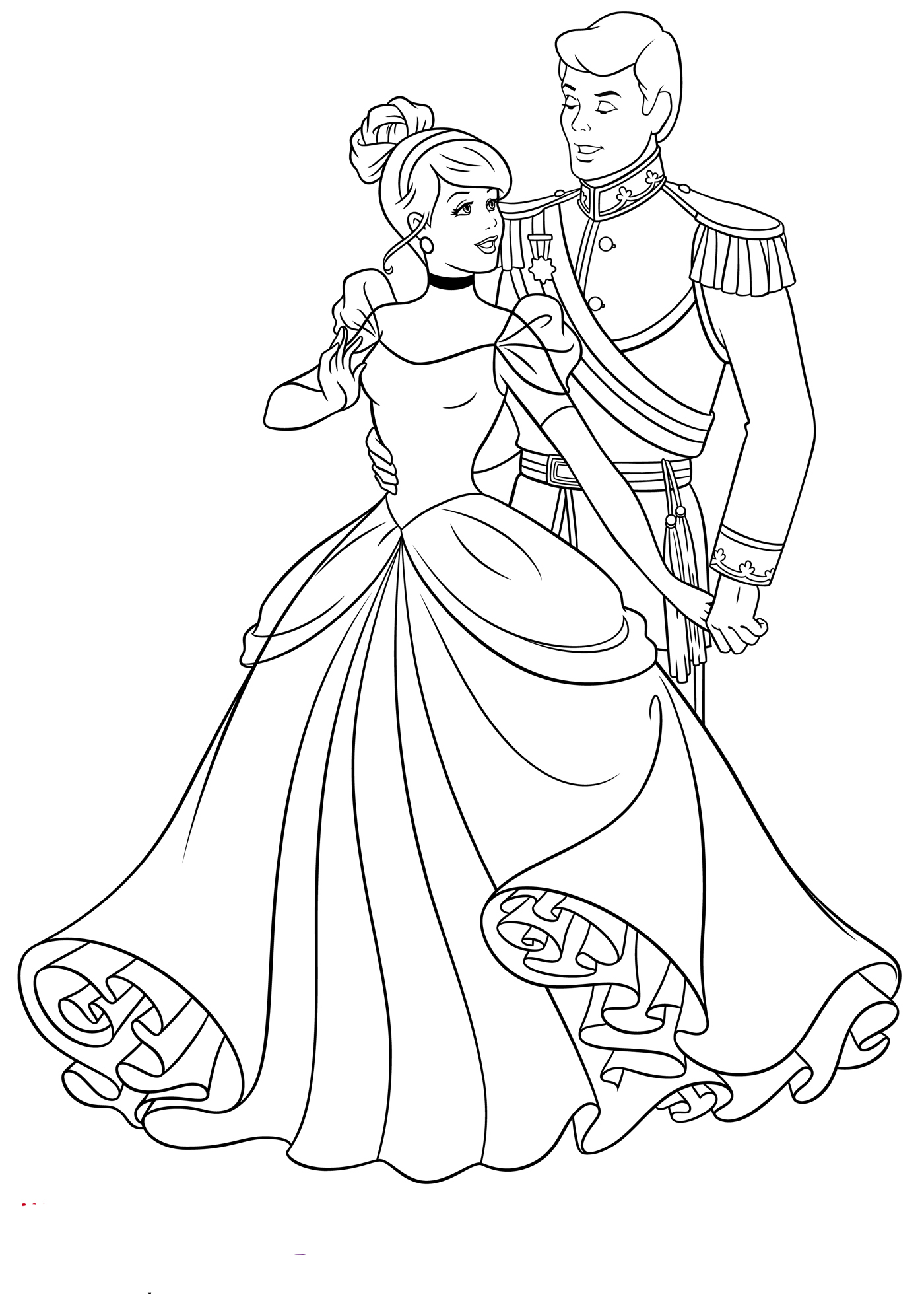 coloring cinderella pictures ella is here cinderella disney coloring pages cinderella pictures coloring