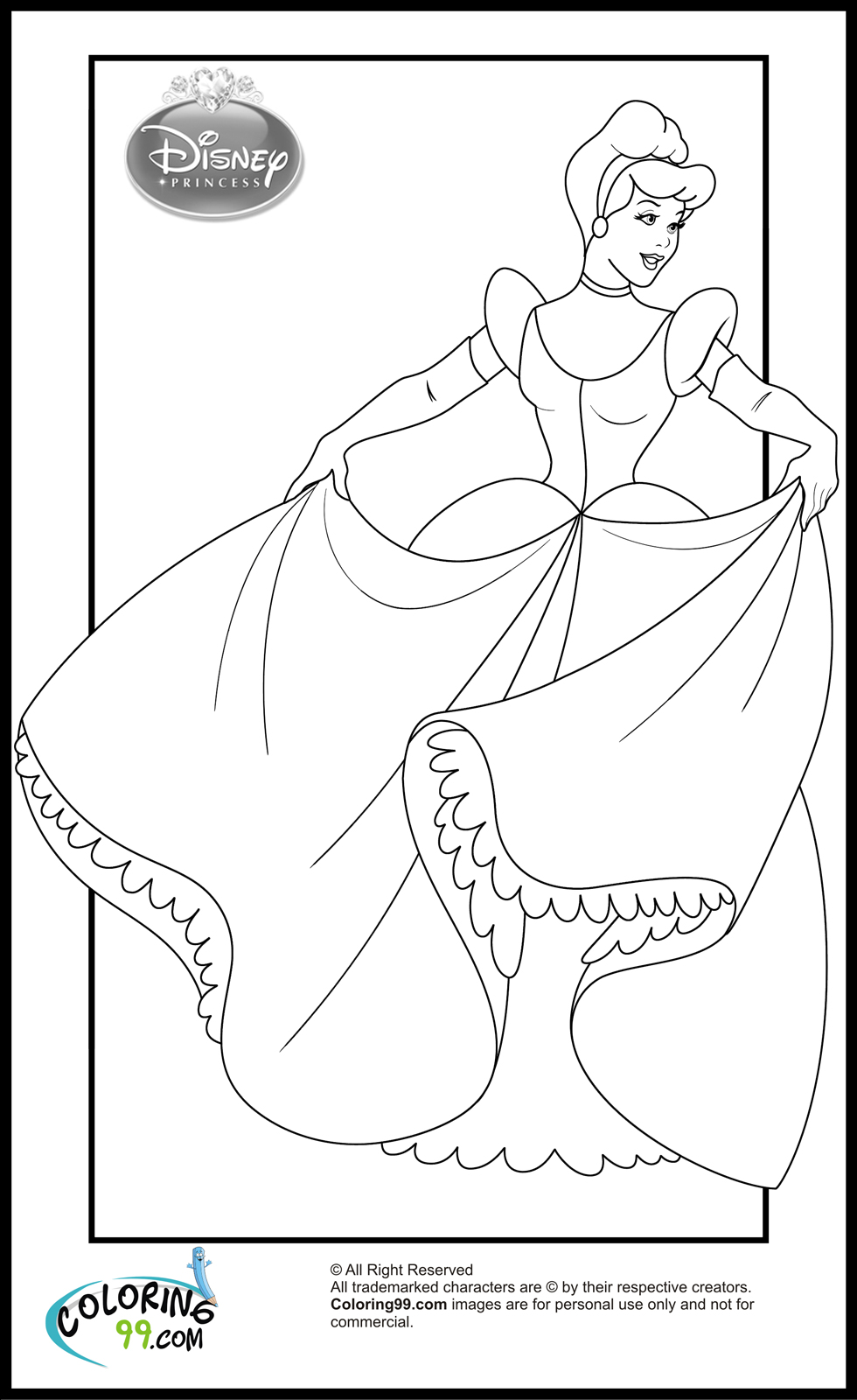 coloring cinderella pictures princess free cinderella s for kids9102 coloring pages coloring pictures cinderella