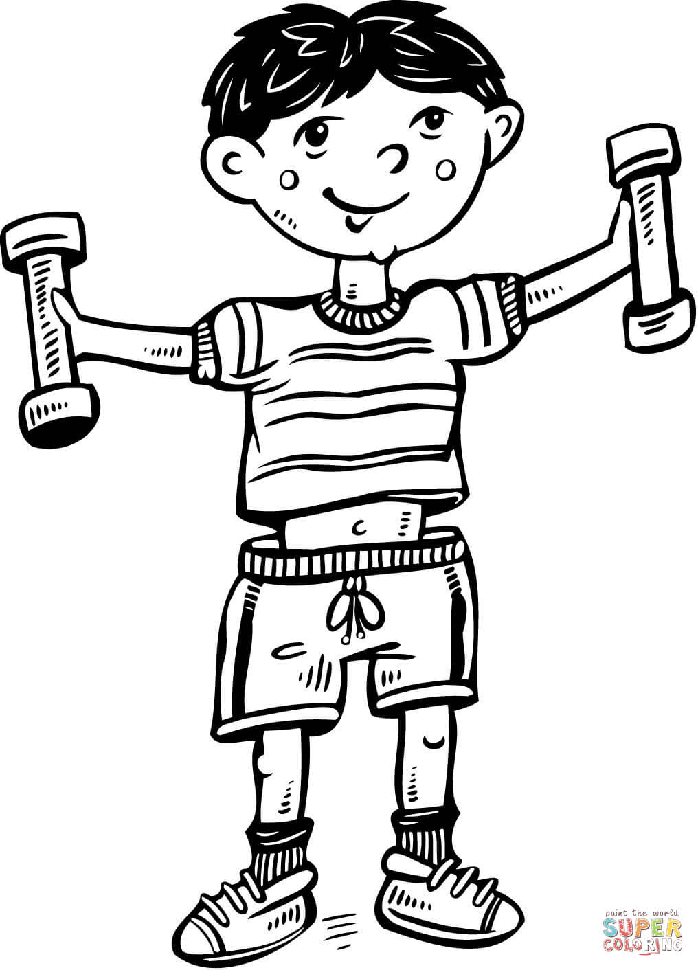 coloring clipart boy happy boy character cartoon coloring page stock clipart coloring boy