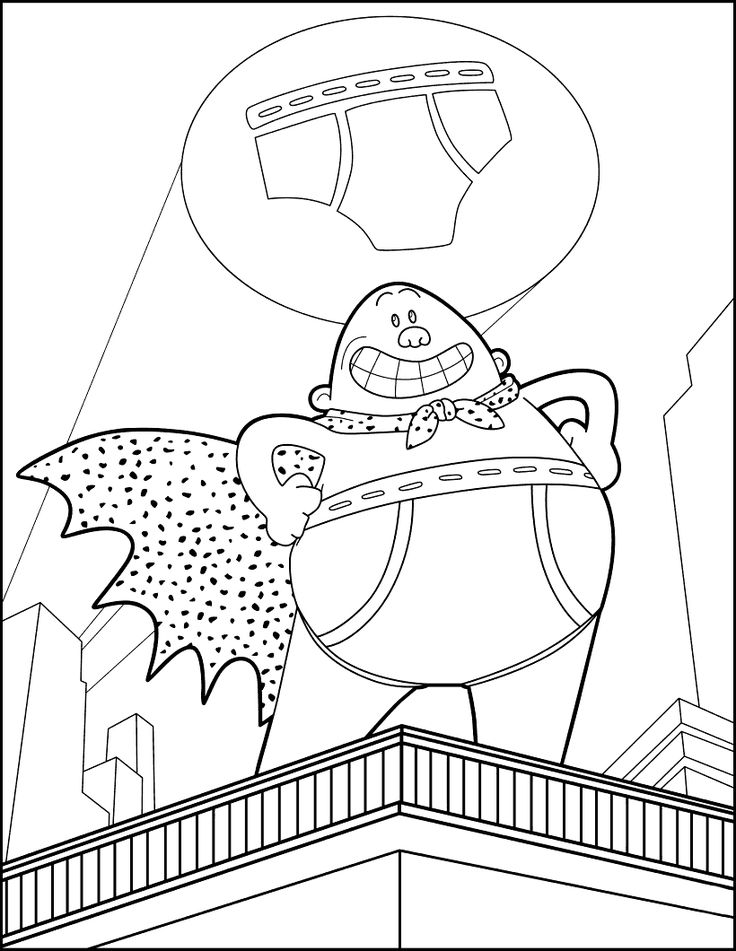 coloring coloring page captain underpants free printable captain underpants coloring pages scribblefun underpants captain coloring coloring page
