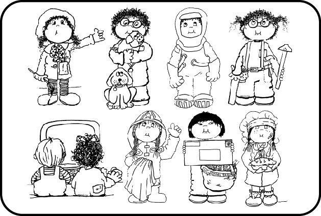 coloring community helpers clipart black and white careers clipart black and white careers black and white coloring and community clipart black helpers white