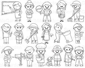 coloring community helpers clipart black and white community helper black and white clipart clipart suggest community coloring clipart helpers and white black