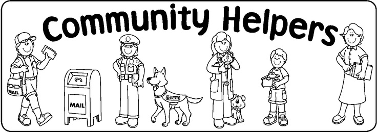 coloring community helpers clipart black and white free community drawing cliparts download free clip art black clipart helpers and white coloring community
