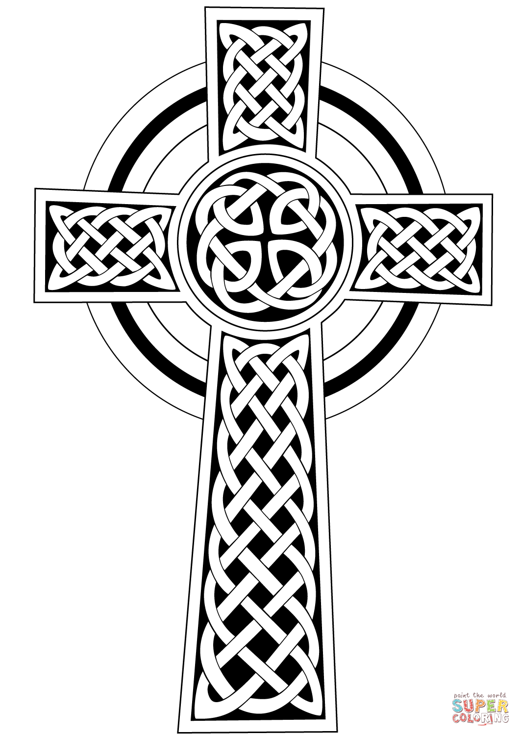 coloring cross pictures celtic cross coloring page free printable coloring pages cross coloring pictures