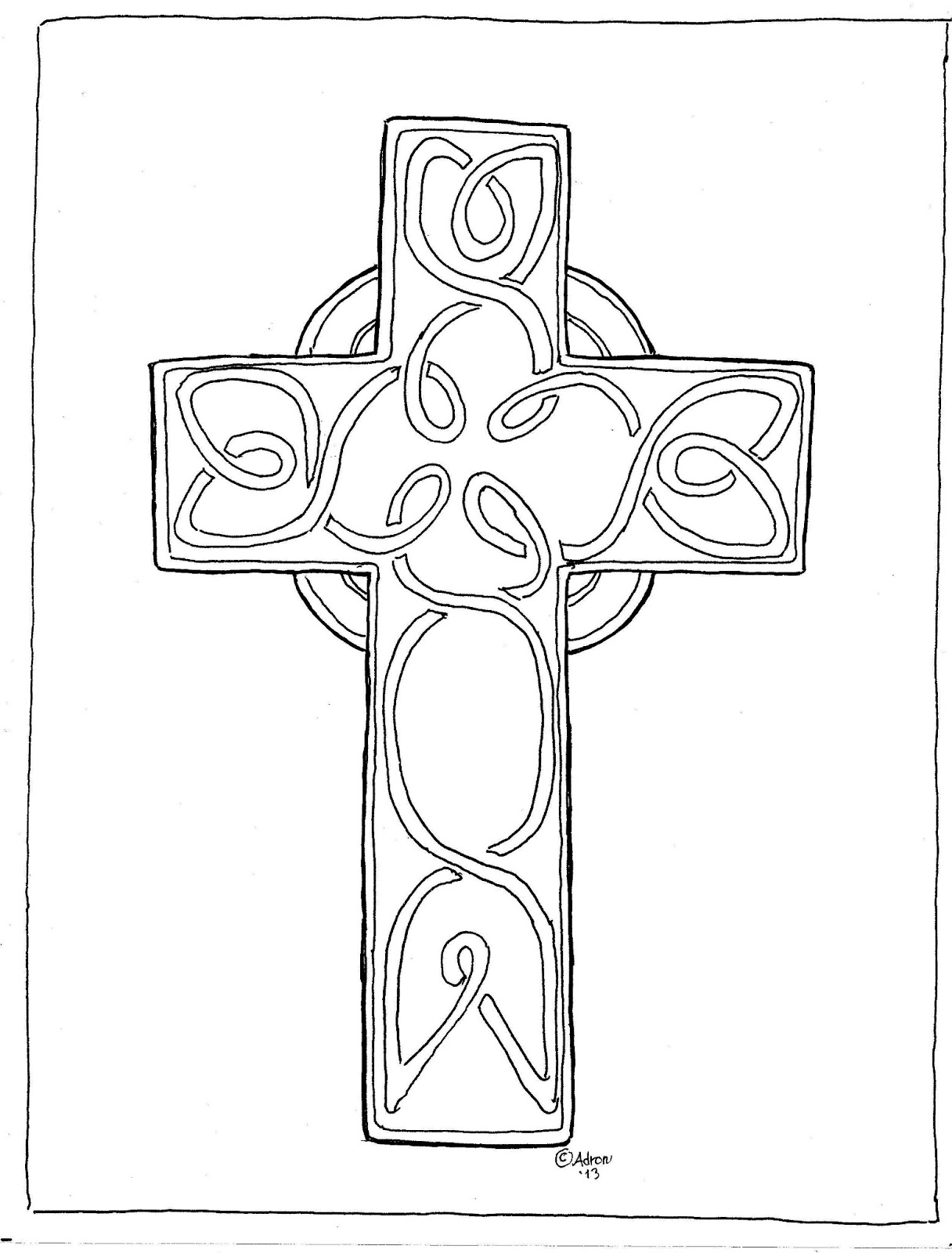 coloring cross pictures coloring pages for kids by mr adron print and color cross coloring pictures