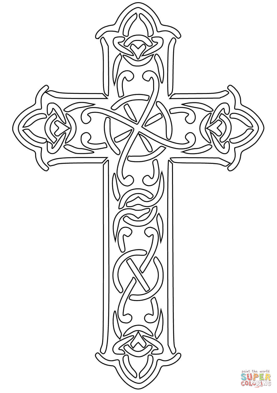 coloring cross pictures free printable cross coloring pages for kids cool2bkids pictures coloring cross