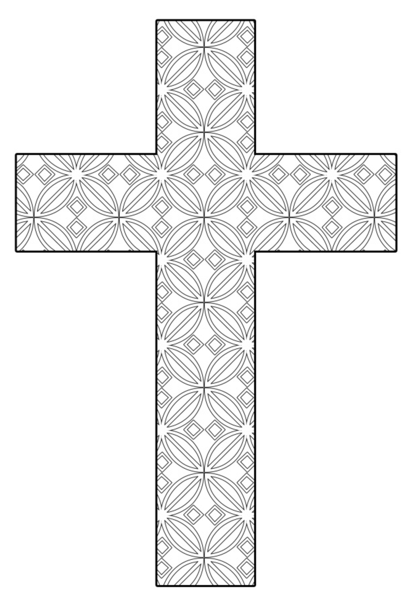 coloring cross pictures free printable cross coloring pages what mommy does coloring pictures cross