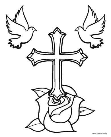 coloring cross pictures stained glass abstract cross coloring page free pictures coloring cross