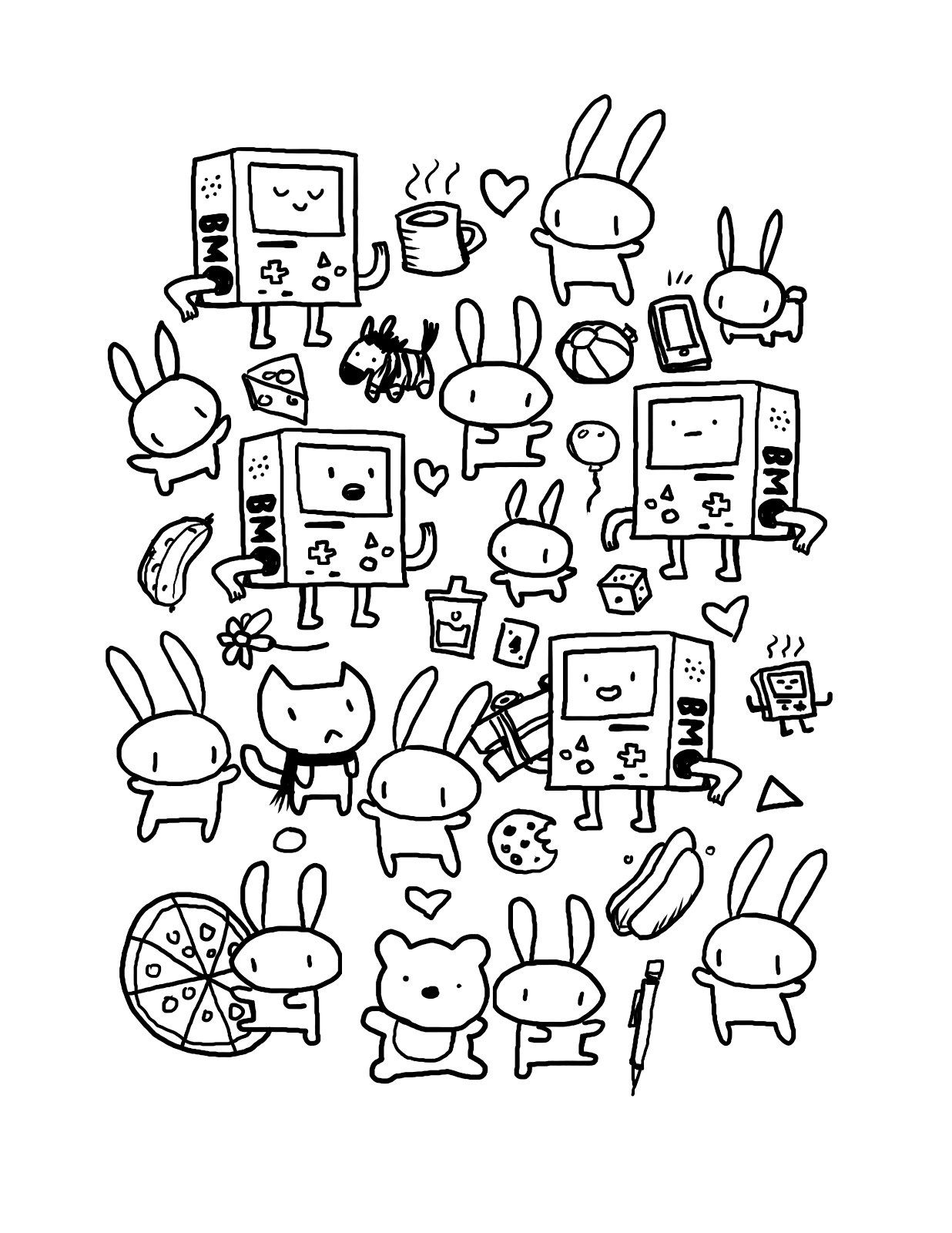 coloring cute doodle art kawaii coloring pages best coloring pages for kids coloring art cute doodle