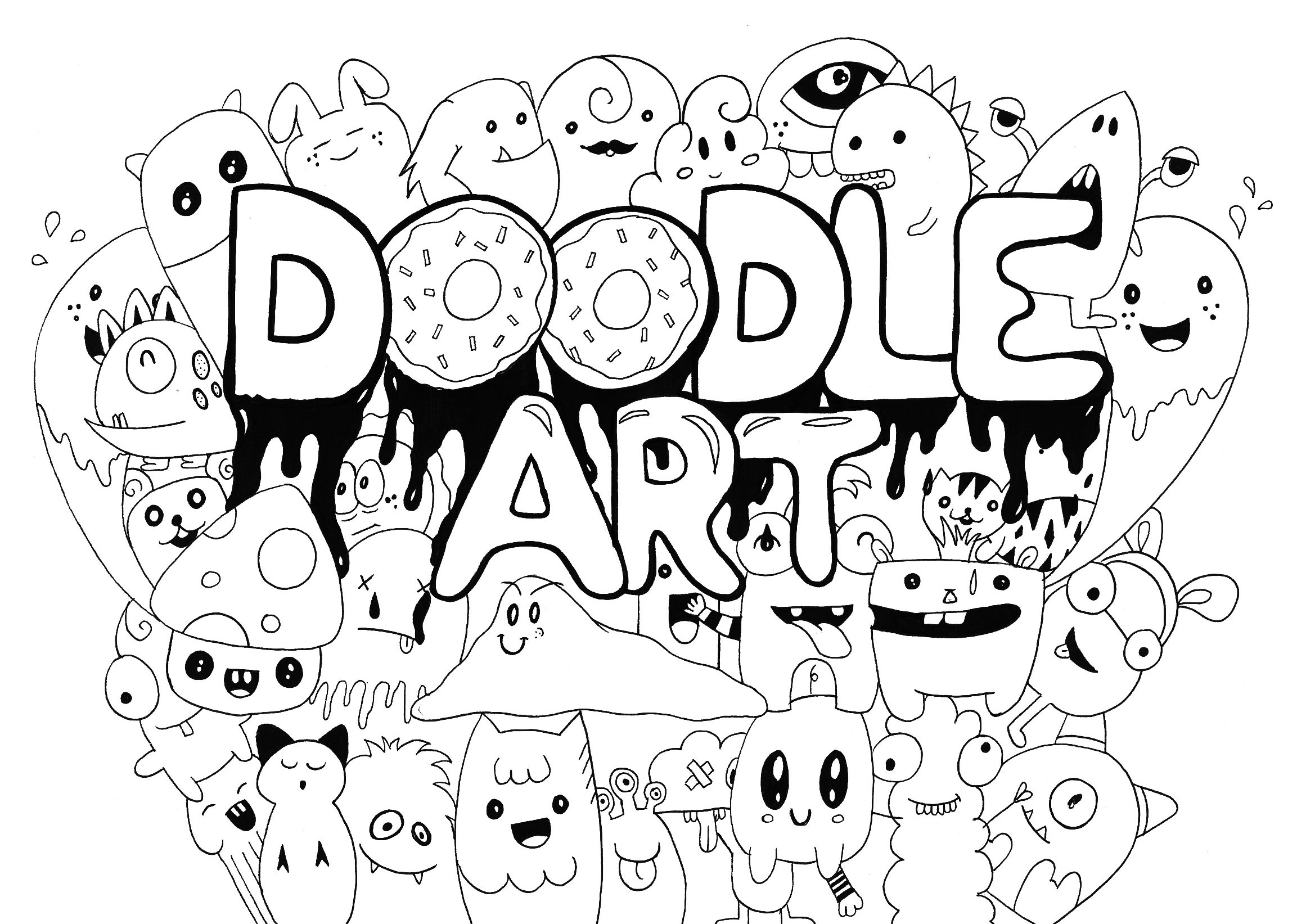 coloring cute doodle art marshmallows doodle coloring page printable cutekawaii etsy art coloring cute doodle
