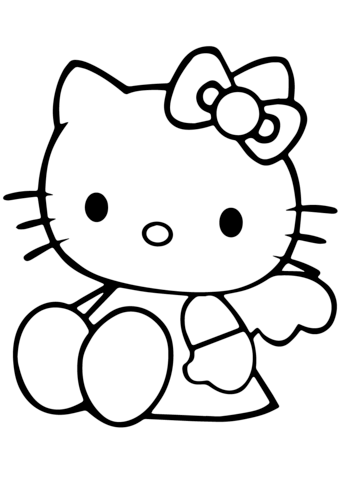 coloring cute hello kitty drawing free coloring pages printable pictures to color kids coloring cute hello drawing kitty