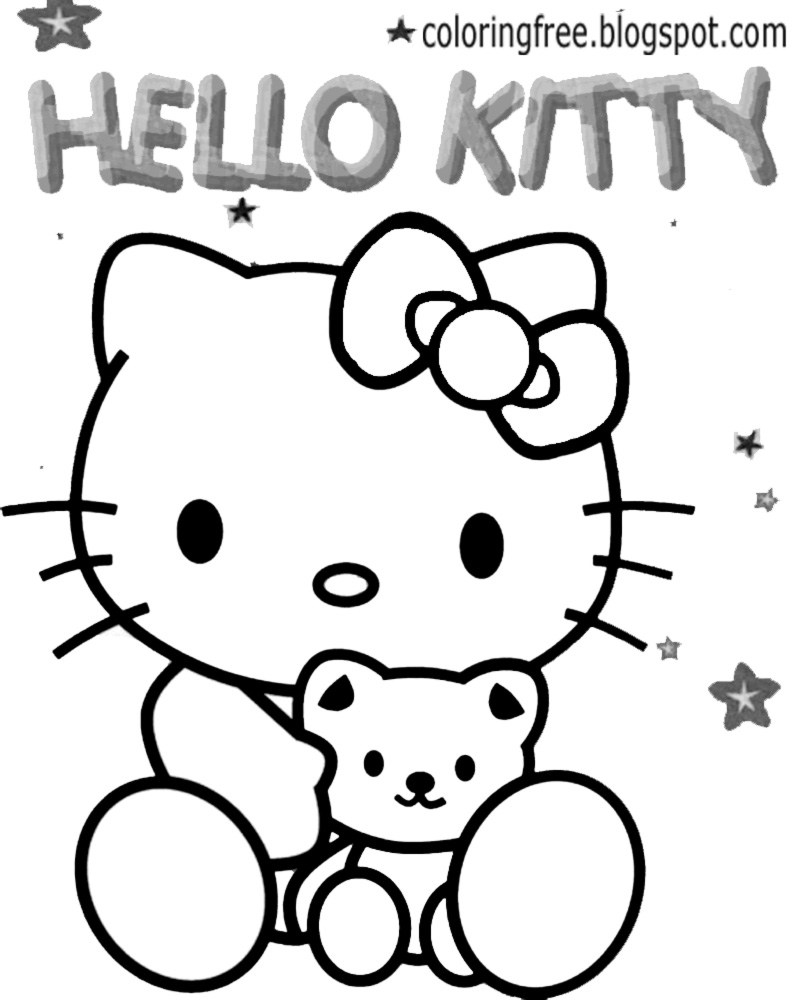 coloring cute hello kitty drawing free coloring pages printable pictures to color kids cute kitty drawing hello coloring