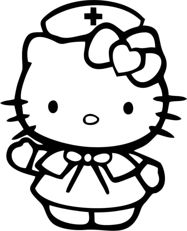 coloring cute hello kitty drawing hello kitty drawing at paintingvalleycom explore hello kitty cute drawing coloring