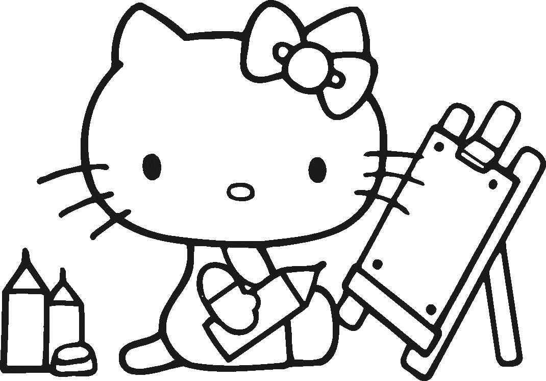 coloring cute hello kitty drawing hello kitty drawing for kids at paintingvalleycom drawing kitty hello cute coloring
