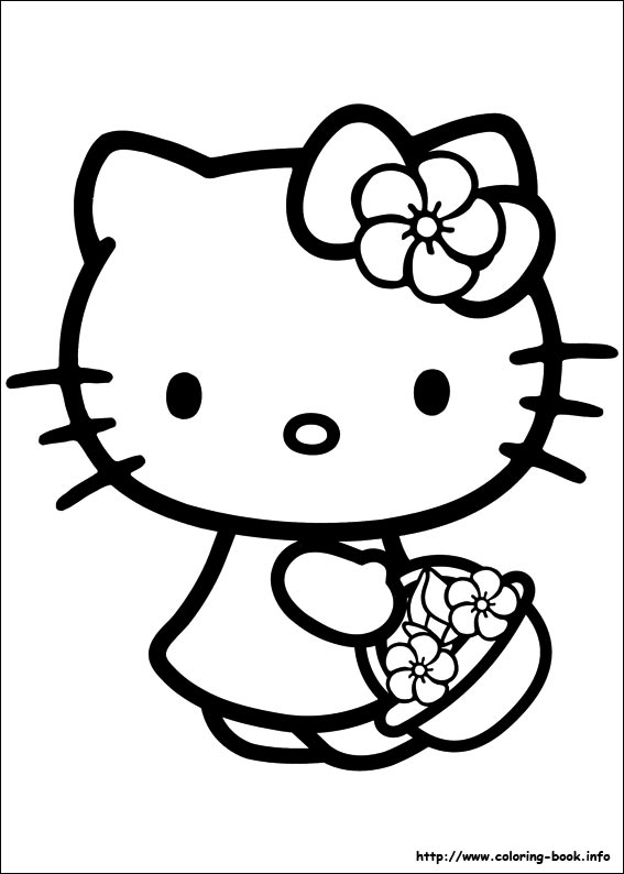 coloring cute hello kitty drawing hello kitty drawing images at paintingvalleycom explore drawing cute coloring kitty hello