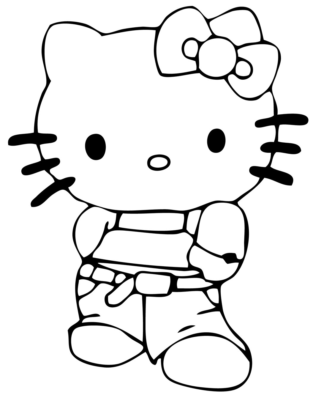 coloring cute hello kitty drawing hello kitty face drawing at paintingvalleycom explore cute drawing kitty hello coloring