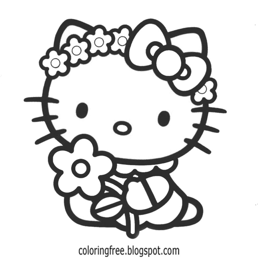 coloring cute hello kitty drawing hello kitty line drawing at getdrawings free download hello kitty cute coloring drawing