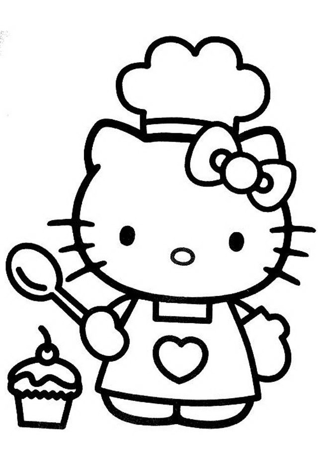 coloring cute hello kitty drawing hello kitty line drawing at paintingvalleycom explore cute kitty hello coloring drawing