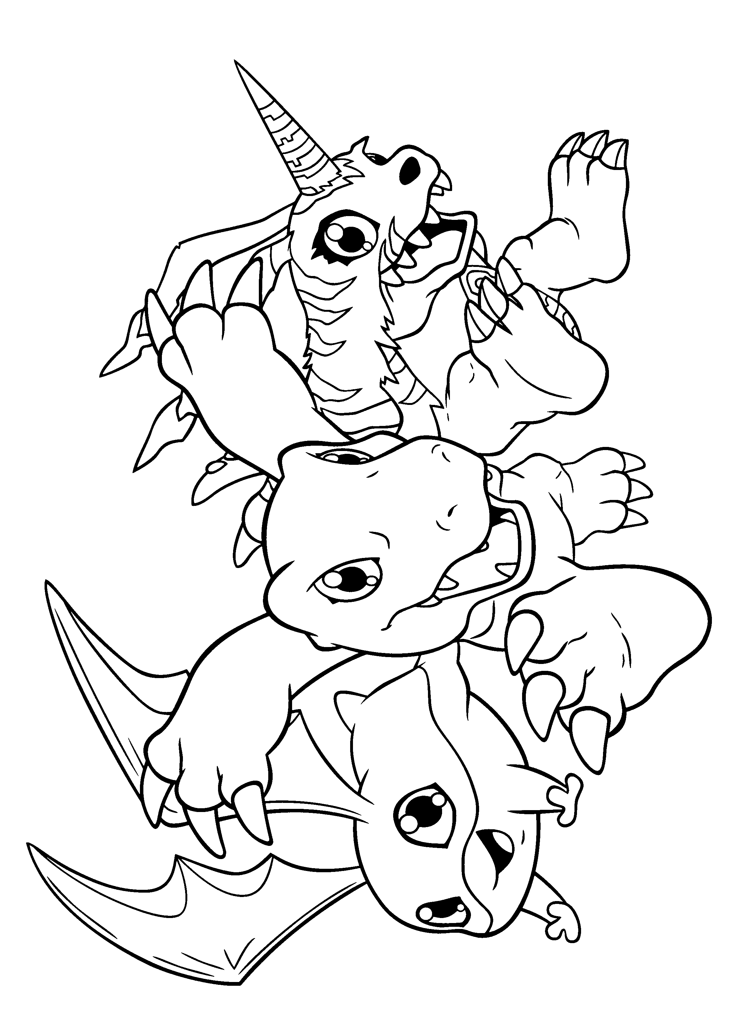 coloring digimon digimon cartoons page 4 printable coloring pages digimon coloring