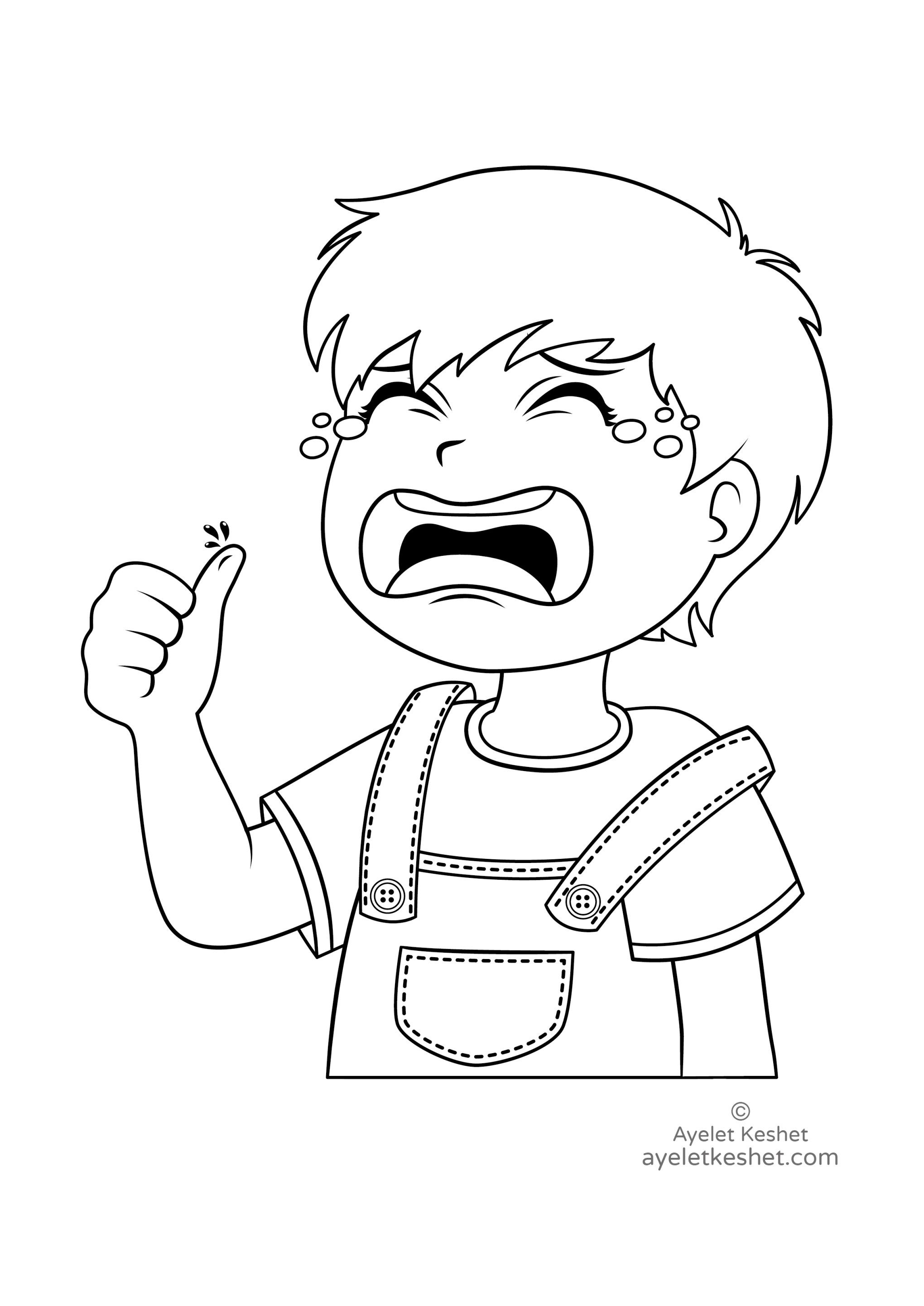 coloring emotions for kids feelings coloring pages for preschoolers download free for kids coloring emotions