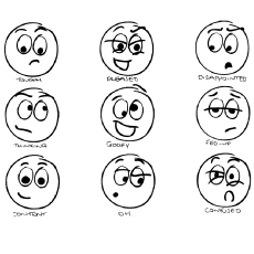 coloring emotions for kids printable coloring page emotional balloons coloring emotions for kids