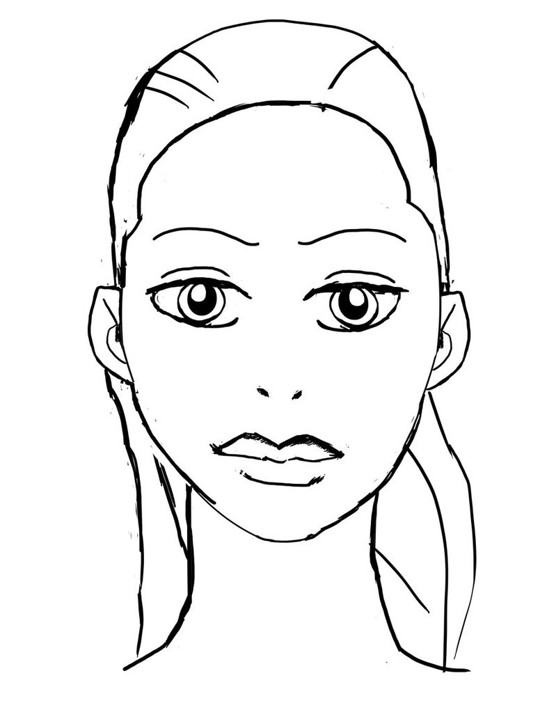 coloring face blank face coloring page coloring home face coloring 1 2