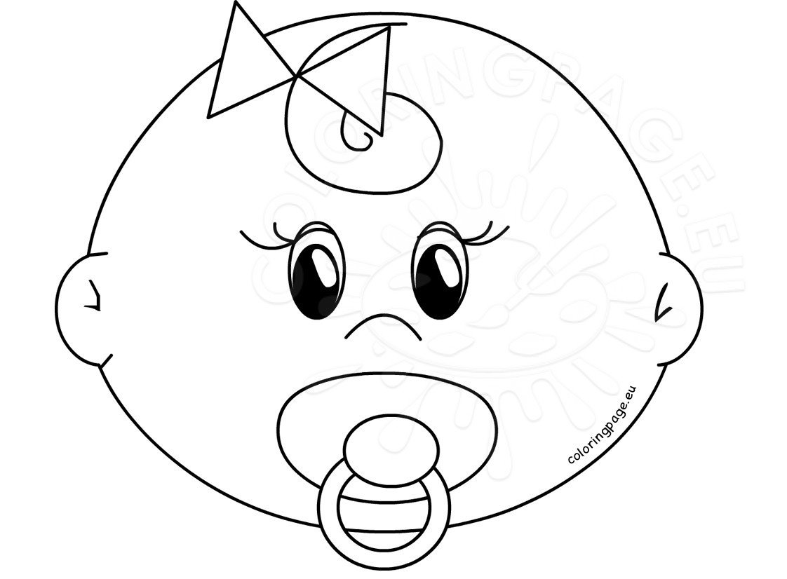 coloring face cute girl baby faces coloring pages printable coloring page face coloring