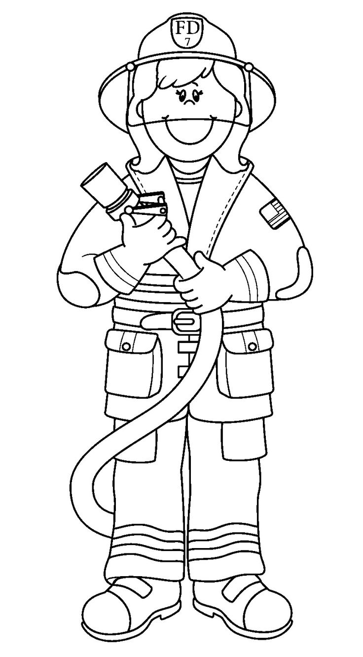 coloring fireman clipart black and white firefighter coloring pages getcoloringpagescom black and fireman clipart white coloring